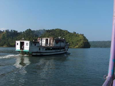 A boat on Kaptai Lake, Chittagong.
