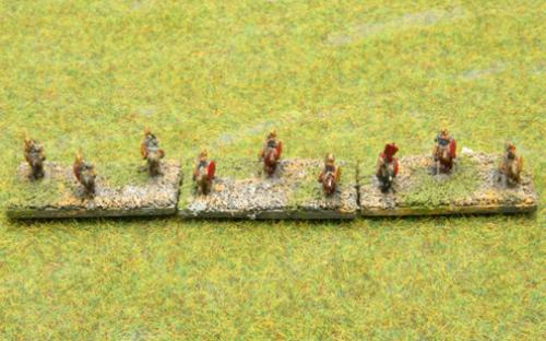 6mm Warmaster Ancients Successor army: Mounted skirmishers