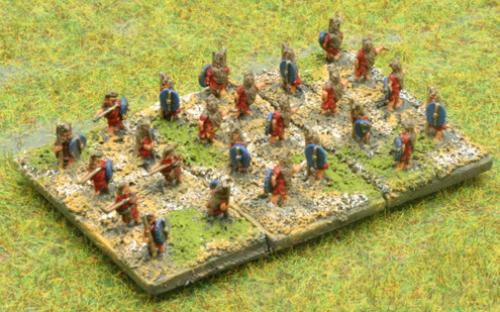 6mm Warmaster Ancients Republican army: Skirmishers