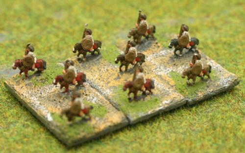 6mm Warmaster Ancients Republican army: Light cavalry