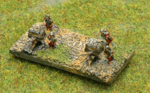 6mm Warmaster Ancients Imperian Roman army: Scorpions (artillery)