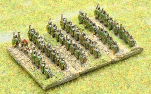 6mm Warmaster Ancients Imperian Roman army: Auxilia infantry